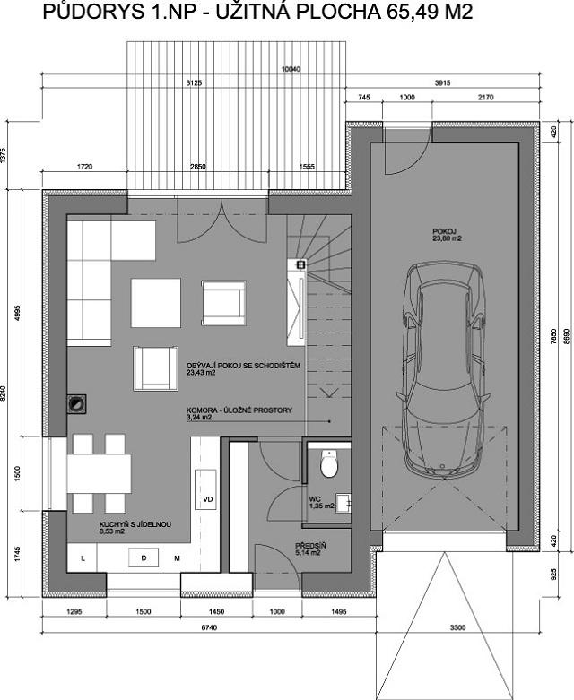 Rodinné domy Opatovice u Rajhradu – prodáno 2016